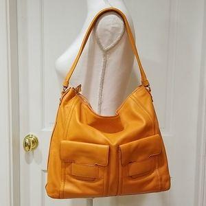 Kate Spade NY Orange Leather Shoulder Bag